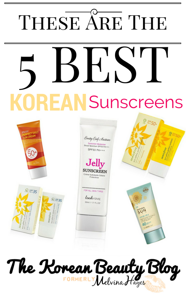 Top 5 Korean Sunblocks for Oily to Normal Skin | KoreanBeautyBlog.com