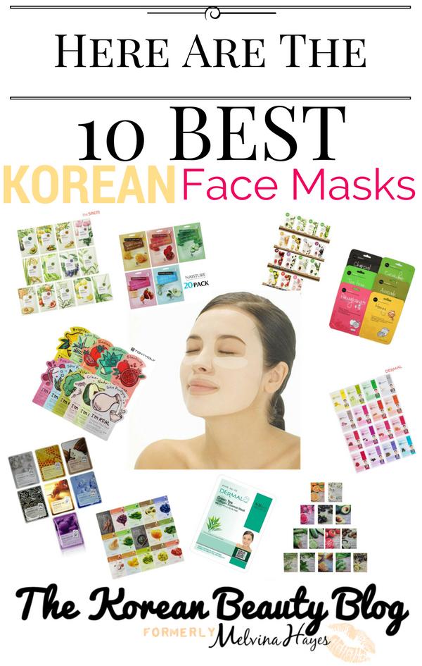 top10 korean sheet masks